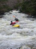 Whitewater kayaking Royalty Free Stock Images