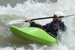 Whitewater Kayaking w Jackson dziurze Zdjęcie Royalty Free