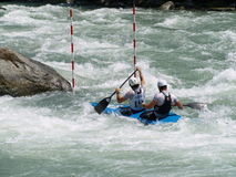 Whitewater Kyaking Royalty-vrije Stock Afbeelding