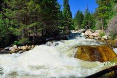 Whitewater in montagne rocciose parco nazionale, Colorado fotografie stock libere da diritti