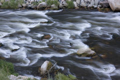 Whitewater in mountain river Stock Photo