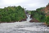 Whitewater at the Murchison Falls Stock Image