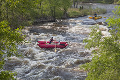 Whitewater rafters Stock Images