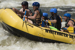 Whitewater Rafters. Photo taken at Columbus Whitewater Express Course, in Columbus, Georgia stock images