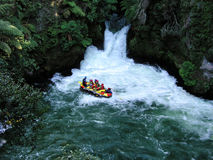 Whitewater rafting. In Rotorua, New Zealand Stock Photography