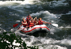 Whitewater Rafting Royalty Free Stock Photography