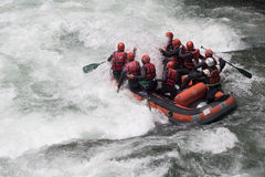 Whitewater rafting Stock Image