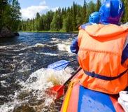 Whitewater Rafting Stock Image