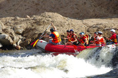 Whitewater rafting Arkivfoto