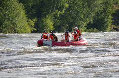 Whitewater rafting Royaltyfria Foton
