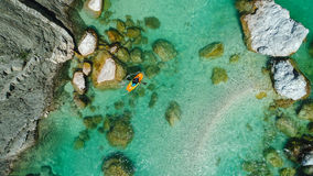 Whitewater Rafting on the Emerald waters of Soca river, Slovenia Stock Photography