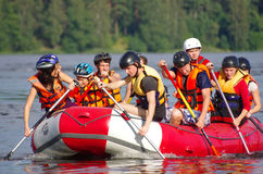 Whitewater rafting Royalty Free Stock Images