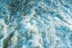 Whitewater rapids on river viewed from above royalty free stock photography