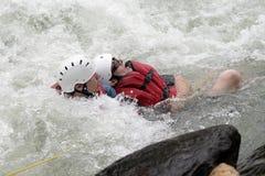 Whitewater Rettung Lizenzfreie Stockfotografie