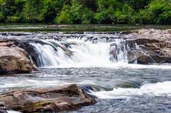 Whitewater rever i den Chattahoochee nationalskogen arkivfoto
