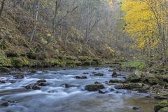 Whitewater River In Autumn Royalty Free Stock Photos