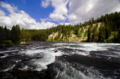 Whitewater River flowing through a canyon stock photos