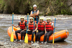 Whitewater River Rafting Adventure Team Stock Image