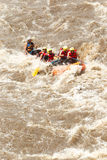 Whitewater River Rafting Boat Adventure Stock Photo