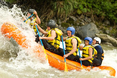Whitewater River Rafting Royalty Free Stock Photography