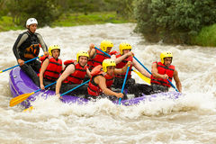 Whitewater River Rafting Stock Photo