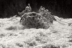 Whitewater River Rafting Stock Images