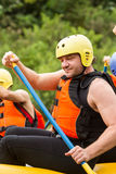 Whitewater River Rafting Practice Royalty Free Stock Image
