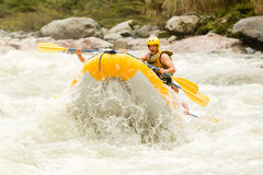 Whitewater River Rafting Stunt Royalty Free Stock Photography
