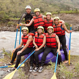 Whitewater River Rafting Team Royalty Free Stock Photo