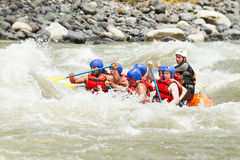Whitewater River Rafting Royalty Free Stock Images