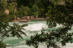 Whitewater. Rough waters of the Niagara river stock photos