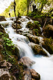Whitewater running in the forest. Plitvice Lakes National Park, Stock Photo