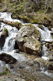 Whitewater in the spring Pyrenees Royalty Free Stock Images