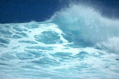 Whitewater wave. Wave breaking Royalty Free Stock Photos