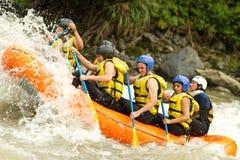 Whitewaterrivier Rafting Royalty-vrije Stock Fotografie