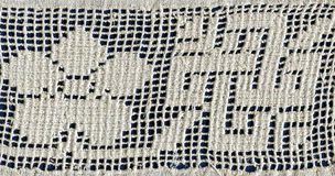 Whitework embroidery Stock Images