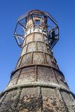Whitford-Leuchtturm, Wales lizenzfreie stockbilder