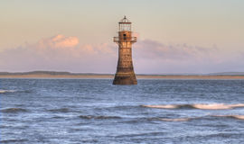 Whitford Lighthouse. Swansea, South Wales UK Royalty Free Stock Images