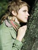 whith шарфа девушки Стоковое Фото