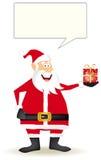 Whith de Papá Noel un pequeño regalo Imagenes de archivo