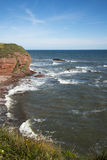 Whiting Ness. Cliffs and Sea at Whiting Ness, Arbroath, Scotland Royalty Free Stock Images