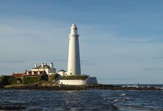 WHITLEY BAY LIGHT HOUSE royalty free stock image