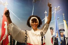 Whitney Houston-Wachsfigur Lizenzfreies Stockbild