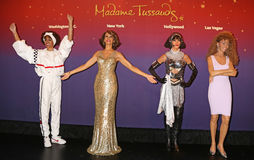 Whitney Houston-Wachsfiguren Stockbilder