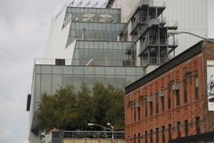 The whitney museum, and the highline park Royalty Free Stock Image