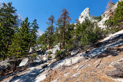 Whitney terenu jezior śladu Inyo Wrotny las państwowy, - CA Zdjęcie Royalty Free