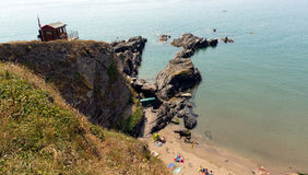 Whitsand海湾康沃尔郡海岸英国英国 库存图片