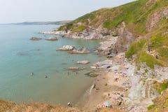 Whitsand Bay Cornwall coast England UK Royalty Free Stock Photography