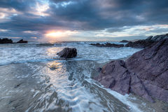 Whitsand Bay in Cornwall Stock Photos
