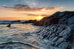 Whitsand Bay in Cornwall Stock Image